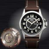 【萬年鐘錶】LUMINOX 雷明時 野戰部隊 自動上鍊機械錶 Day-Date 系列 透明背蓋 43mm 銀x棕  LM-A1801