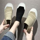 帆布潮鞋一腳蹬懶人布鞋韓版潮流老北京男鞋百搭休閒秋季透氣板鞋 貝芙莉