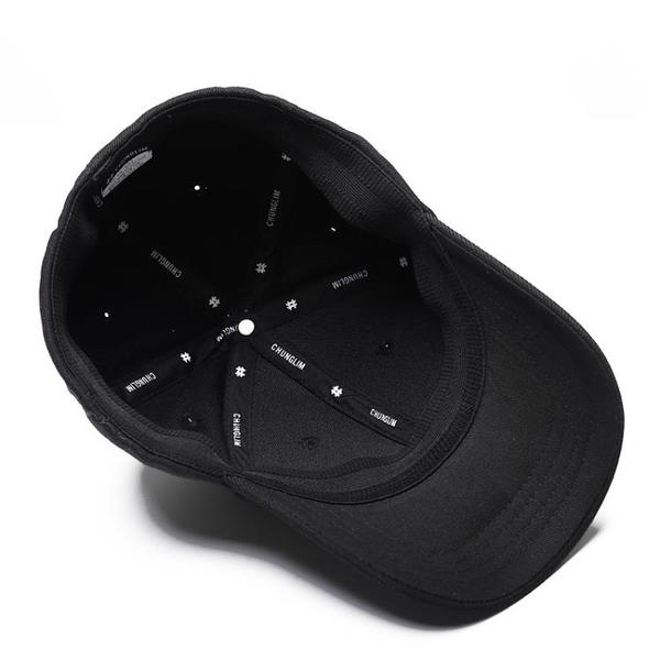 新款帽子男冬天韓版潮後封口黑色棒球帽秋季彈性後閉口遮陽鴨舌帽
