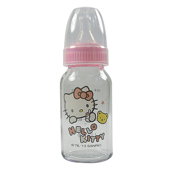 Hello Kitty晶鑽玻璃奶瓶 標準口徑(120ml)