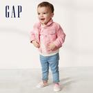 Gap女嬰棉質舒適翻領短夾克543550-俏皮粉色