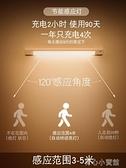 感應燈 智慧人體感應小夜燈家用臥室過道衣櫃廁所充電樓梯聲控光控床頭燈 育心館