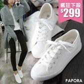 女休閒鞋.經典不敗款休閒小白鞋帆布鞋【KC030】白色  男生/女生