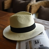 草帽-手工編織爵士帽時尚個性有型百搭女遮陽帽2色73si63[巴黎精品]
