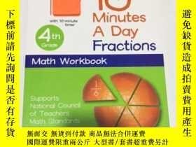 二手書博民逛書店10罕見Minutes a Day: Fractions 4th Grade 每天10分鐘:4年級分數 DKY
