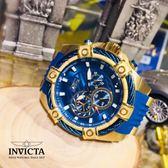 【INVICTA】新一代極致繩索腕錶 52mm - 藍色金錶框
