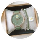 女士手錶 牛油果綠手表時尚女表簡約氣質大氣初中生高中學生小清新防水考試 夢藝家