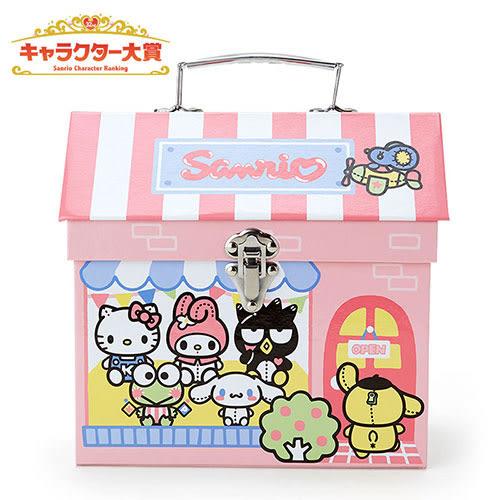 《Sanrio》三麗鷗人氣明星玩偶工場系列可愛房屋造型紙製收納提盒 222062N