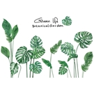 綠植墻貼ins貼紙出租房改造臥室自粘壁紙...