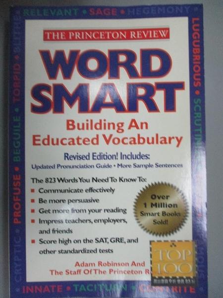 【書寶二手書T3/語言學習_YFJ】Word Smart I: Building an Educated Vocabul