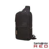 Samsonite RED ARVERN 防水拉鍊斜肩包(黑)