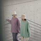 Queen Shop【01110505】素色圓領棉質寬鬆感大學T 六色售*現+預*