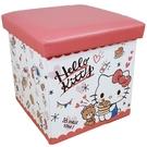 【震撼精品百貨】凱蒂貓_Hello Kitty~台灣授權 SANRIO三麗鷗 KITTY皮質折疊收納箱 (粉鬆餅款)#19333