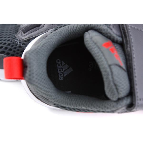 adidas AltaRun CF I 童鞋 運動鞋 魔鬼氈 灰色 小童 BD8001 no695