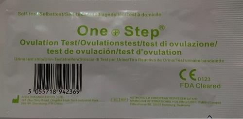 [現貨] ONE STEP AIDE 愛德排卵檢測試劑(試紙)(未滅菌) 高敏感度(20mIU/ml) 100張
