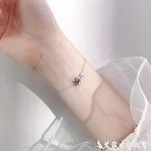 手鍊 銀宇宙星空星球手鍊簡約個性設計感小眾學生手環韓版閨蜜飾品女 艾家