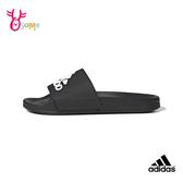 adidas拖鞋ADILETTE男女鞋 拖鞋運動拖鞋浴室室內室外防滑舒緩情侶鞋 S9325#黑白◆OSOME奧森鞋業