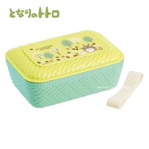 日本限定 宮崎駿 吉卜力 龍貓 籐編風 森林版 便當盒 / 野餐盒 / 點心盒