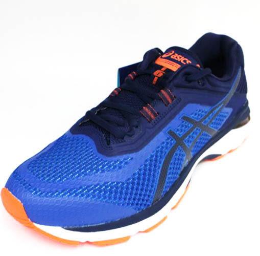 ASICS 男GT-2000 6 寬楦4E 高緩衝 支撐 亞瑟膠慢跑鞋 T807N-4549藍橘[陽光樂活]