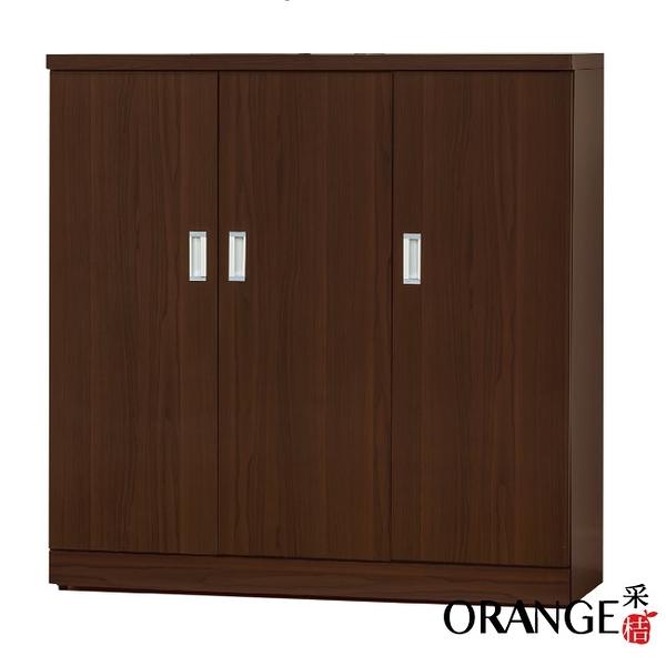 【采桔家居】波娜 時尚4尺木紋三門鞋櫃/玄關櫃
