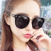 太陽眼鏡 女士潮偏光太陽鏡明星款眼鏡韓版復古原宿風ulzzang 小艾時尚