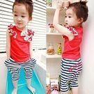 韓版《紅色滾邊款》可愛短袖套裝
