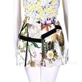 CLASS roberto cavalli 白色黑框印花短褲 1520579-52