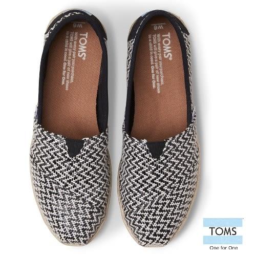 TOMS 十字繡編織懶人鞋-女款(10007995   BLACK)