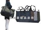 ~雪黛屋~AUYOD 肩背購物袋旅行袋收納摺疊袋簡單袋超輕大容量防水尼龍布手提肩背台灣製造#4963