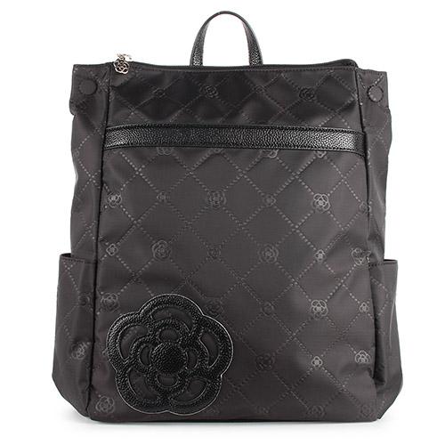 CLATHAS 山茶花輕量菱格紋後背包(黑色)201006-10