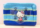 【震撼精品百貨】Hello Kitty 凱蒂貓~Hello Kitty日本SANRIO三麗鷗KITTY化妝包/筆袋-針織藍*22563