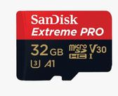 SanDisk Extreme Pro Micro SDHC 32G/Class10/支援UHS-1/A1/V30/100MB/90MB/s