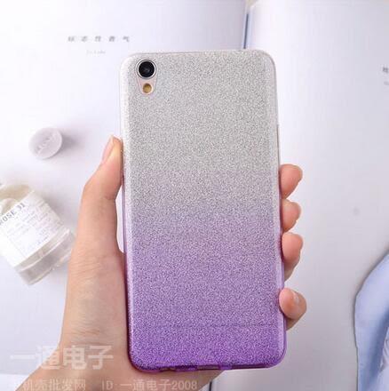 【SZ93】OPPO R7手機殼超薄漸變R7S閃粉TPU手機套OPPO R7PLUS矽膠軟女外殼