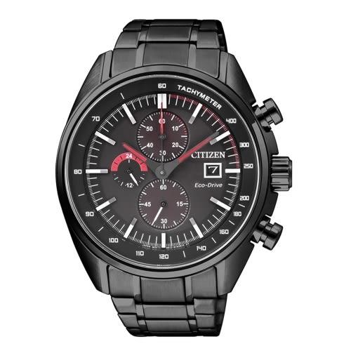 CITIZEN 計時光動能時尚腕錶/黑鋼/CA0595-54E