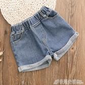 女童牛仔短褲夏新款中大童外穿短褲兒童純棉寬鬆休閒熱褲韓版 格蘭小舖