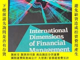 二手書博民逛書店lnternational Dimensions of罕見Financial ManagementY34920