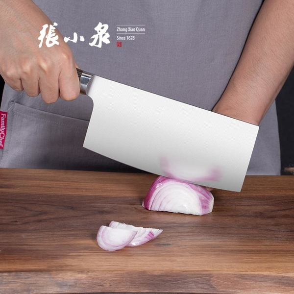 張小泉菜刀 家用廚師專用不銹鋼實木柄切肉切片切菜