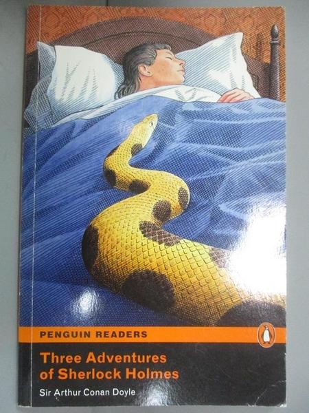 【書寶二手書T1/原文小說_KLK】Three adventures of Sherlock Holmes_Sir Arthur Conan Doyle; retold by David Maule