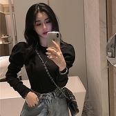 秋冬內搭打底衫女2021新款韓版洋氣修身顯瘦泡泡長袖T恤網紅上衣寶貝計畫
