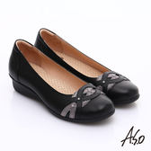 A.S.O 舒適通勤 水鑽奢華通勤鞋  黑
