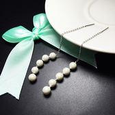 耳環 925純銀珍珠-垂吊長款情人節生日禮物女飾品73ia44[時尚巴黎]