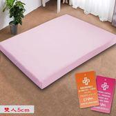 釋壓型 5cm 防蟎抗菌 記憶 床墊 雙人 5尺 雙人床墊 記憶床-粉色  KOTAS