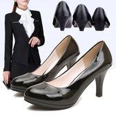 推薦舒適正裝工作鞋子黑色中跟職業鞋高跟鞋女鞋2018夏季秋季新款單鞋【店慶85折促銷】
