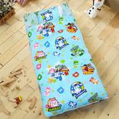 HO KANG 兒童睡袋  雪紡棉冬夏鋪棉兩用 正版授權 -波力戰警(藍)