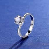 莫桑鑽戒指-1克拉六爪鑲嵌扭臂925純銀女開口戒2色73yk92{附GRA證書}【時尚巴黎】