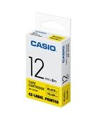 CASIO 標籤機專用色帶-12mm【黃底黑字XR-12YW1】