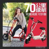 電動車 折疊車成人小型便攜成人車電動車女性代步車 莎拉嘿幼
