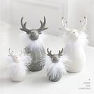 聖誕節裝擺件 北歐ins陶瓷圣誕鹿公仔桌面裝飾擺件 麋鹿圣誕節禮物小禮品