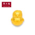 可愛企鵝造型黃金路路通串飾/串珠 周大福...