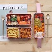 日式學生少女心飯盒便當盒分隔型微波爐水果沙拉上班族輕食餐盒 小明同學